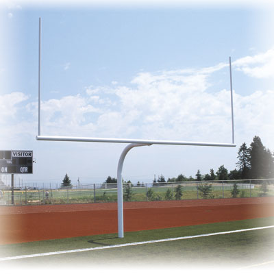 Semi-Permanent Gooseneck Offset Goal Post