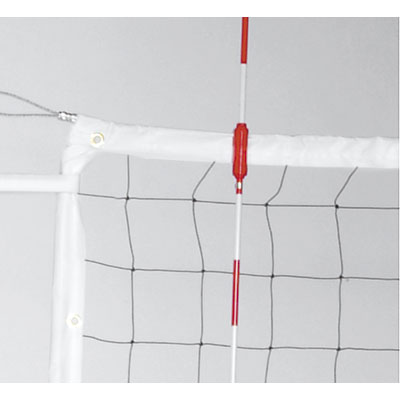 Power Volleyball Net, Steel Cable & Wood Dowels